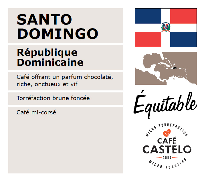 Café santo domingo équitable